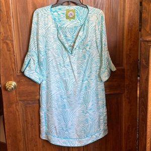Elizabeth McKay New York 100% Silk Tunic Dress 2